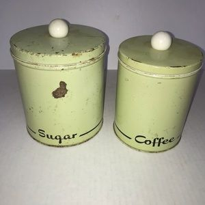 Vintage Sugar and Coffee Canisters
